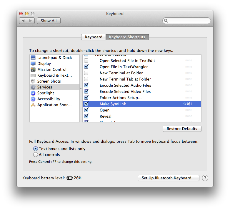 Make A Symbolic Link From Finder Tewha
